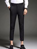 hesapli Erkek Pantolonları ve Şortları-Erkek Temel Günlük Takım Elbise Pantolon - Solid Havuz Siyah 33 28 34