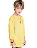 levne Chlapecké mikiny-Děti Chlapecké Aktivní / Základní Barevné bloky Krátký rukáv Polyester Košilky Bílá