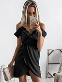 cheap Dresses For Date-Women's Daily Basic Asymmetrical Sheath Dress - Solid Colored Dusty Rose, Lace High Waist Strap Black Blushing Pink Gray M L XL / Sexy