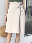 preiswerte Damen Röcke-Damen-knielange Swingröcke - einfarbig