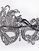 halpa Uinti-cosplay-Cosplay Venetsialainen naamio / Puolimaski Aikuisten Halloween Naisten Musta Metalli Party Cosplay-tarvikkeet Halloween / Karnevaali / Masquerade Puvut / Nainen