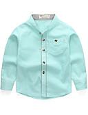 Χαμηλού Κόστους Μπλουζάκια για αγόρια-Παιδιά / Νήπιο Αγορίστικα Βασικό / Κομψό στυλ street Καθημερινά / Σχολείο Μονόχρωμο Μακρυμάνικο Κανονικό Βαμβάκι Πουκάμισο Ανθισμένο Ροζ