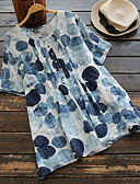 povoljno Majica s rukavima-Veći konfekcijski brojevi Majica s rukavima Žene - Osnovni Dnevno Geometrijski oblici Crn