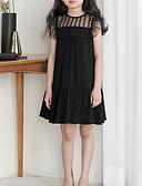 זול שמלות לבנות-שמלה מעל הברך ללא שרוולים קפלים אחיד סגנון חמוד בנות ילדים
