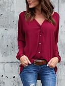 ieftine Bluză-Pentru femei În V - Mărime Plus Size Bluză Mată Albastru Deschis