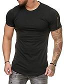 お買い得  メンズTシャツ&タンクトップ-男性用 スポーツ EU / USサイズ Tシャツ ラウンドネック カラーブロック ブラック XL / 半袖
