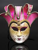 hesapli Smokinler-Cosplay Venedik Maskesi / Yarım Maske Yetişkin Cadılar Bayramı Kadın's Mavi Mürekkep / Kristal / Fuşya Plastikler Parti Cosplay Aksesuarları Cadılar Bayramı / Karnaval / Maskeli Balo Kostümler