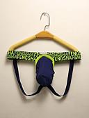 abordables Ropa interior para hombre exótica-Hombre Talla Asiática G-string Underwear - Básico 1 Pieza Baja cintura Gris Bleu Ciel Azul Real XL XXL XXXL