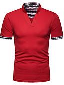 preiswerte Herren Polo Shirts-Herrn Einfarbig Polo, Ständer Dunkelgray L / Kurzarm / Langarm