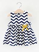 Χαμηλού Κόστους Βρεφικά φορέματα-Μωρό Κοριτσίστικα Βασικό Ριγέ Αμάνικο Πάνω από το Γόνατο Πολυεστέρας Φόρεμα Ρουμπίνι
