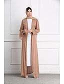abordables Vestidos Maxi-Mujer Boho Elegante Abaya Kaftan Vestido - Con Cuentas, Un Color Maxi