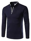 abordables Camisetas y Tops de Hombre-Hombre Polo Un Color Rojo XL
