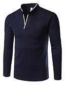 preiswerte Herren T-Shirts & Tank Tops-Herrn Solide Polo Rote XL