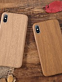 זול כבל & מטענים iPhone-מגן עבור Apple iPhone XS / iPhone XR / iPhone XS Max עמיד בזעזועים / אולטרה דק כיסוי אחורי סיבי עץ רך TPU