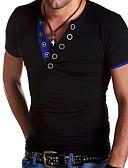 billige T-shirts og undertrøjer til herrer-V-hals Herre - Ensfarvet T-shirt Hvid L