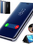 hesapli Cep Telefonu Kılıfları-Pouzdro Uyumluluk Samsung Galaxy Note 9 / Note 8 / Note 5 Satandlı / Kaplama / Ayna Tam Kaplama Kılıf Solid Sert PU Deri