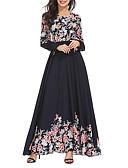 abordables Vestidos Maxi-Mujer Elegante Abaya Vestido - Estampado, Geométrico Maxi