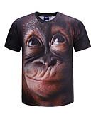 お買い得  メンズフーディー&スウェットシャツ-男性用 Tシャツ ラウンドネック 動物