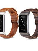 halpa Smartwatch-nauhat-Watch Band varten Fitbit Charge 3 Fitbit Perinteinen solki Aito nahka Rannehihna