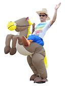 hesapli Kadın Trençkotları-Bir Dinozora Binmek T-Rex Cosplay Kostümleri Yetişkin Erkek Cosplay Cadılar Bayramı Cadılar Bayramı Karnaval Maskeli Balo Festival / Tatil Terylene Kahverengi Erkek Bayan Karnaval Kostümleri Kırk Yama