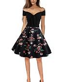 cheap Women's Dresses-Women's Basic Swing Dress - Geometric Patchwork Black L XL XXL