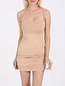 저렴한 여성 드레스-여성용 베이직 슬림 바디콘 드레스 - 솔리드, 패치 워크 미니 스트랩