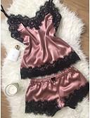 זול חזיות-בגדי ריקוד נשים לבוש ליום מידות גדולות חצאיות - אחיד / סרוג תחרה קשת יין כחול בהיר XL XXL XXXL / V עמוק / סופר סקסי