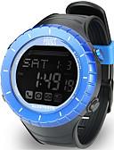 halpa Naisten urheilukellot-Naisten Urheilukello Ulkoilma Muoti Musta  Kumi Japani Digitaalinen Uima-allas Vedenkestävä Smart Bluetooth 100 m 1set Digitaalinen Yksi vuosi Akun käyttöikä / LCD / Panasonic CR2032