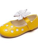 billige Babykjoler-Jente Sko Lær Høst / Vår sommer Sko til blomsterpiker Flate sko Sløyfe til Barn / Baby Svart / Gul / Rosa