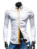 cheap Men's Shirts-Men's Slim Shirt - Solid Colored White L