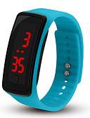 hesapli Çift Saatler-Çiftlerin Spor Saat Dijital Kauçuk Siyah / Pembe / Havuz Mavisi Hayır LCD Dijital Moda - Mavi Pembe Açık Mavi Bir yıl Pil Ömrü