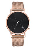 cheap Fashion Watches-Women's Bracelet Watch Gold Watch Casual Fashion Black Silver Rose Gold Silicone Chinese Quartz black / silver Black+White Rose Gold Casual Watch 1 pc Analog One Year Battery Life