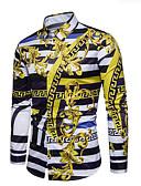billiga Herrtröjor-Geometrisk Skjorta Herr Klassisk krage Purpur XL