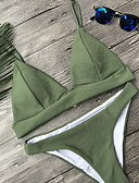 cheap Bikinis-Women's Green Cheeky Tankini Swimwear - Solid Colored S M L Green