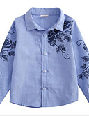 levne Chlapecké mikiny-Děti Chlapecké Aktivní / Šik ven Denní / Jdeme ven Květinový Tisk Dlouhý rukáv Standardní Umělé hedvábí Košile Vodní modrá