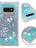 hesapli Cep Telefonu Kılıfları-Pouzdro Uyumluluk Samsung Galaxy S9 / S9 Plus / S8 Plus Şoka Dayanıklı / Akan Sıvı / Şeffaf Arka Kapak Işıltılı Parlak / Fil Yumuşak TPU