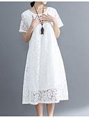 Недорогие Романтические кружева-Жен. Классический Оболочка Платье - Однотонный, Кружева Средней длины