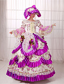 cheap Historical & Vintage Costumes-Rococo Victorian 18th Century Costume Women's Dress Party Costume Masquerade Purple Vintage Cosplay Lace Long Length Ball Gown / Floral