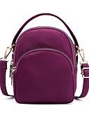 hesapli Kadın Kapşonluları-Kadın's / Unisex Fermuar Oxford Bezi / Naylon Omuz çantası Tek Renk Siyah / YAKUT / Mor