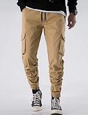 お買い得  メンズパンツ&ショーツ-男性用 ベーシック カーゴパンツ パンツ - ソリッド ライトブラウン