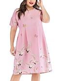 halpa Pluskokoiset mekot-Naisten A-linja Mekko Polvipituinen dusty Rose