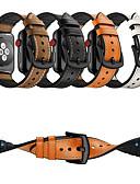 זול להקות Smartwatch-צפו בנד ל סדרת Apple Watch 5/4/3/2/1 Apple אבזם קלאסי סיליקוןריצה / עור אמיתי רצועת יד לספורט