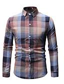 levne Pánské košile-Pánské - Pléd Košile Trávová zelená XL