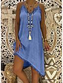 olcso Női ruhák-Női Egyenes Ruha Aszimmetrikus Pántos