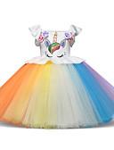 preiswerte Kleider für die Blumenmädchen-Prinzessin Midi Blumenmädchenkleid - Tüll Ärmellos Schmuck mit Blütenblätter / Applikationen / Muster / Druck durch LAN TING Express