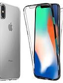 זול מגנים לאייפון-מגן עבור Apple iPhone XS / iPhone XR / iPhone XS Max עמיד בזעזועים / אולטרה דק / שקוף כיסוי מלא אחיד רך TPU