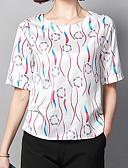 abordables Monos y Rómpers para Mujer-Mujer Estampado Camisa Geométrico