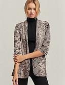 halpa Jackets-Naisten Bleiseri V kaula-aukko Polyesteri Ruskea S / M / L