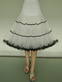 halpa ליין חצאיות רטרו-Petticoat balettihame Skirtin alla 1950-luku Musta / punainen Black & White Musta / oranssi Alushame / Krinoliini