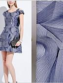 billige Kjoler til brudens mor-Chiffon Geometrisk Strækbart 148 cm bredde stof for Specielle lejligheder solgt ved Måler